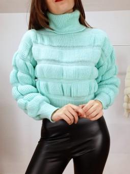 Suéter cian corto...