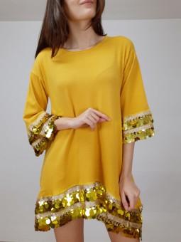 Suéter/vestido mostaza...