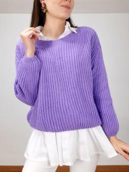 Suéter Ruth color morado (V02)