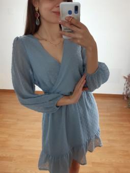 Vestido azul bebé plumetti...