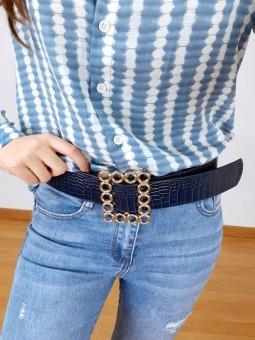 Cinturón azul marino coco...