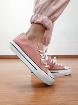 Deportiva lisa rosa...