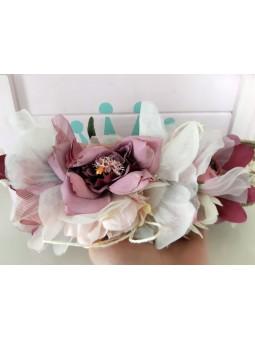 Cinturón rafia flores tonos...