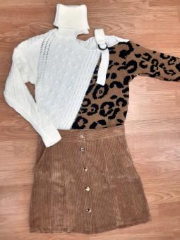 Conjunto suéter Alma blanco...
