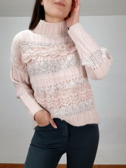 Suéter rosa claro Elena...