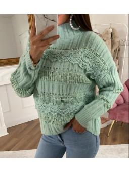 Suéter verde menta Elena...