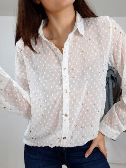 Blusa blanca plumetti...