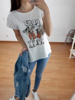 Camiseta blanca picapiedras