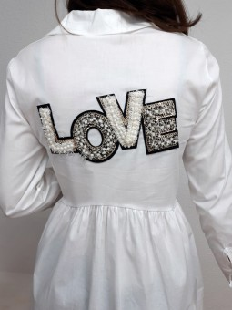 Camisa blanca espalda LOVE...