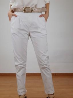 Pantalón blanco de tela (V01)