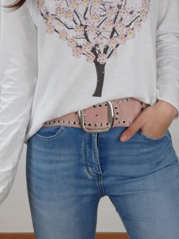 Cinturón ancho rosa...