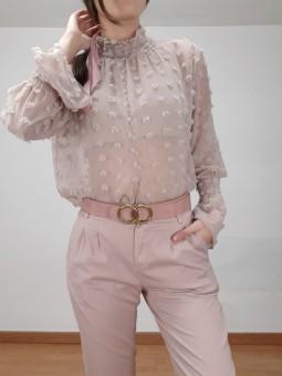 Blusa rosa mini flores...