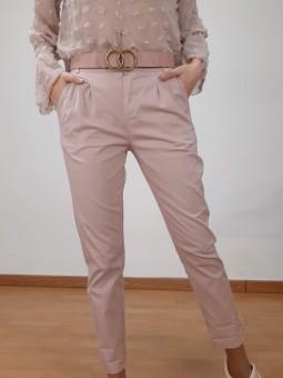 Pantalón rosa claro de tela...