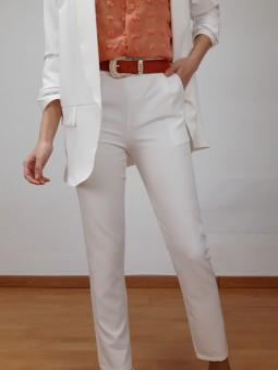 Pantalón blanco de traje...