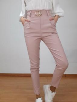 Pantalón rosa talle alto...
