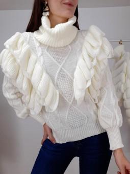 Suéter volantes color...
