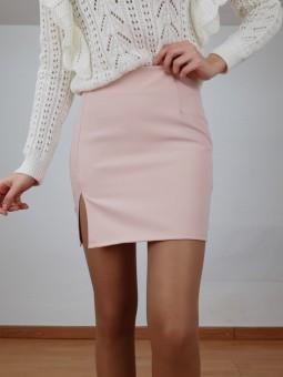 Falda tubo rosa abertura...
