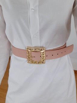 Cinturón rosa hebilla...