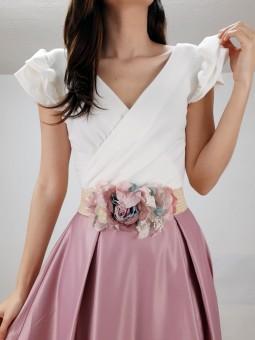 Cinturón elastico flores...