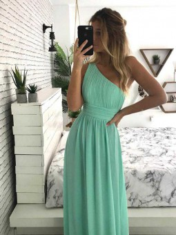 Vestido asimetrico verdemar