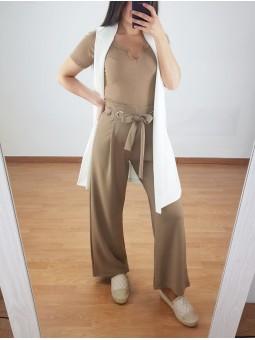 Pantalón culotte camel...