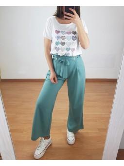Pantalón culotte verdemar...