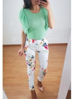 Pantalón Florencia blanco...