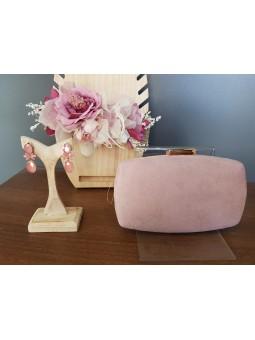 Bolso de mano rosa claro