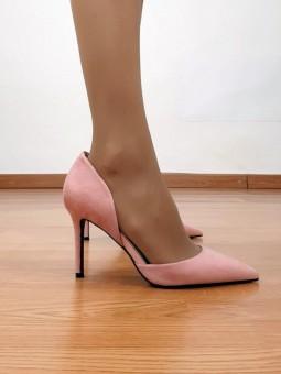 Zapato de salón rosa nude...
