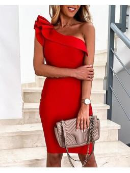 Vestido rojo Paulina...