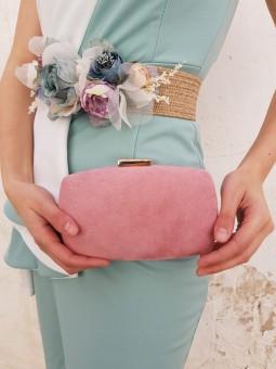 Bolso de mano rosa cierre...