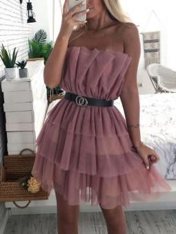 Vestido Amelie tul rosa (V10)