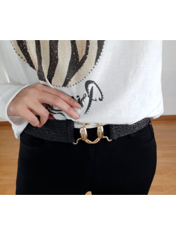 Cinturón negro elástico...