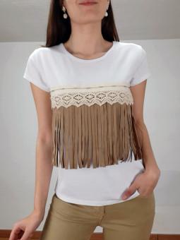 Camiseta manga corta étnica...