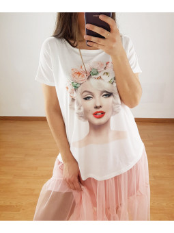 Camiseta Marilyn flores (V07)