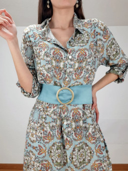 Vestido fondo azul Taormina...