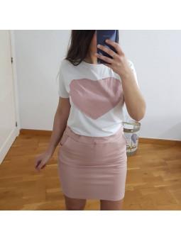 Conjunto rosa falda +...