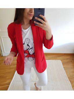Blazer bolsillos roja