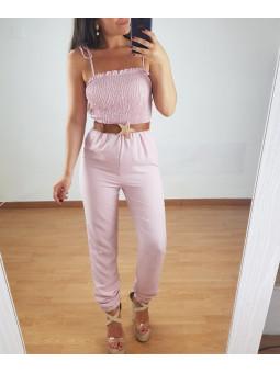 Mono Andrea rosa cuerpo panal