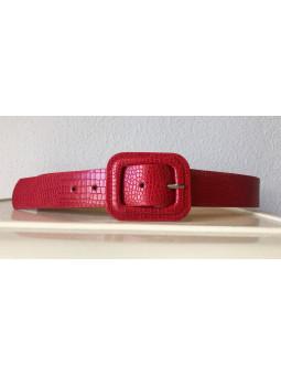 Cinturón rojo coco (V-08)