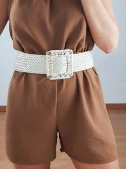 Cinturón marfil hebilla...