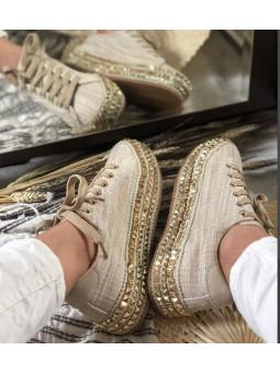 Zapatillas beige suela...