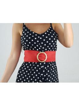Cinturon rojo hebilla...