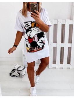 Vestido blanco cómic Mickey