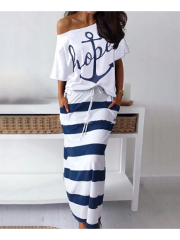 Conjunto falda marinera +...
