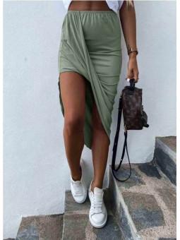 Falda asimetrica verde