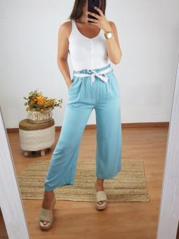 Pantalón culotte azul...