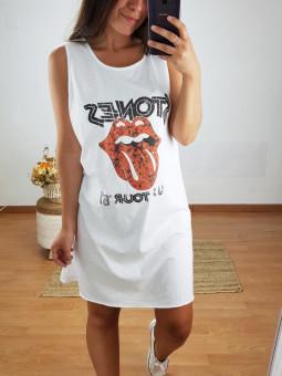 Vestido blanco tirante...
