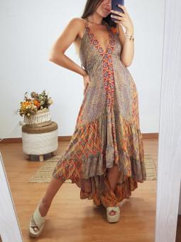 Vestido India tonos...