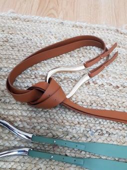 Cinturón doble polipiel...